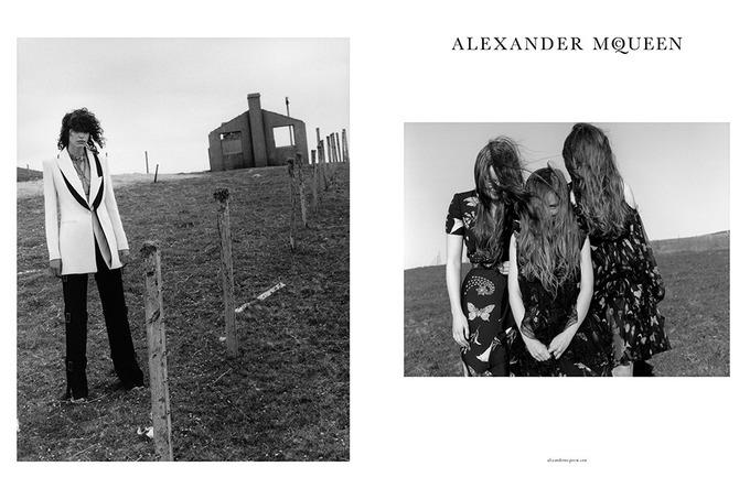 Кампейн  Alexander McQueen осень-зима 2016/2017