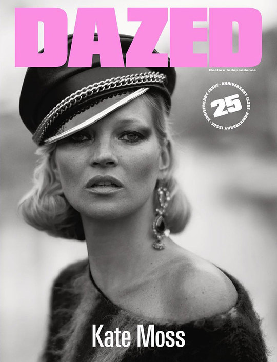 Кейт Мосс для ювілейного Dazed and Confused
