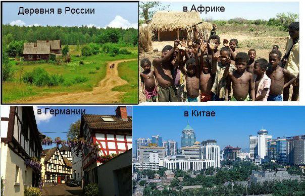 Деревни в разных странах