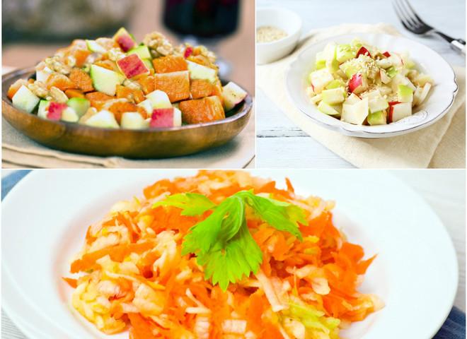 Постные салаты без растительного масла: рецепты с фото
