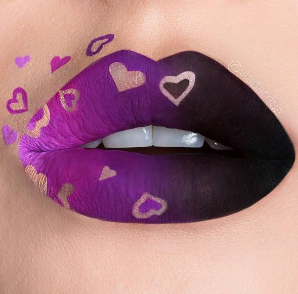 Креативный макияж губ в инстаграме украинского визажиста