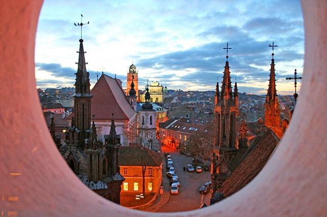 Цікаві місця Вільнюса: вечірні панорами