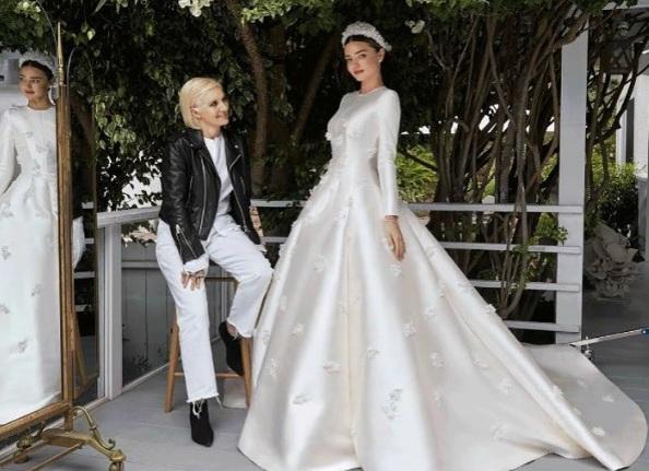 Как создавалось платье Миранды Керр