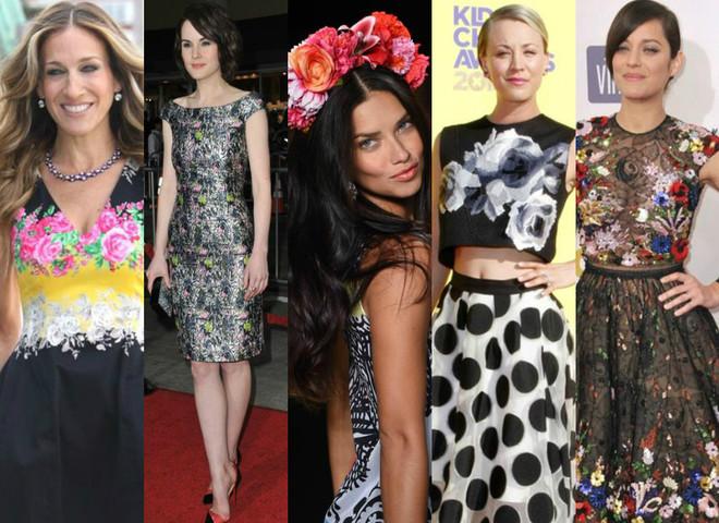 Звездный тренд: 5 способов носить цветочный принт