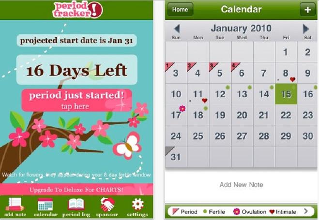 Мобильные женские календарики