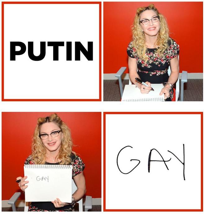 Мадонна, Владимир Путин