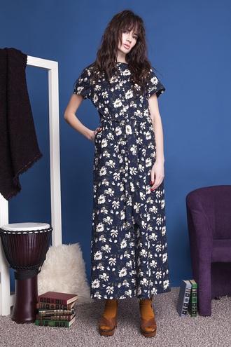 Длинные платья на лето 2016: цветочный принт от ANNA YAKOVENKO