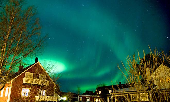 северное сияние в Швеции