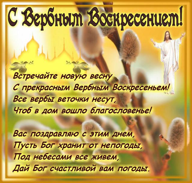 Поздравляю с Вербным Воскресением!