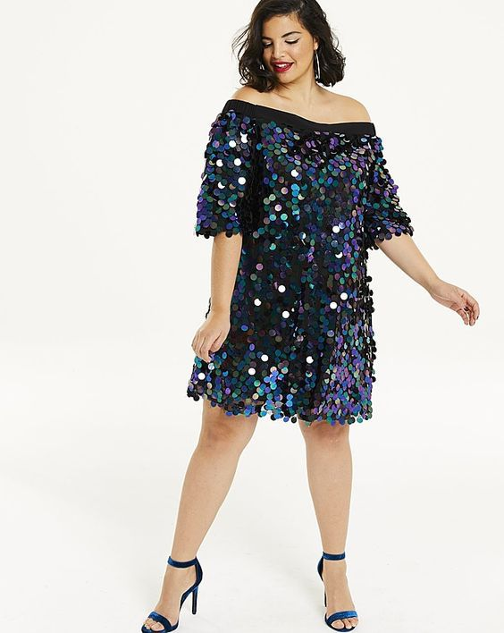 Платье на Новый год 2020 для полных