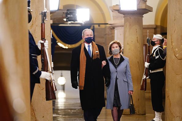 Лора Буш на инаугурации Байдена