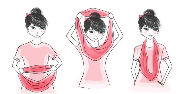 7 способівв як одягнути шарф-хомут