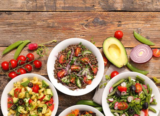Простые постные салаты: рецепты