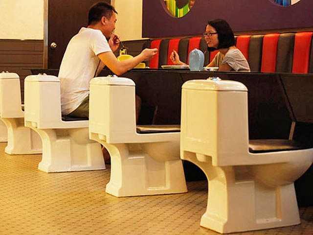 Гурман-тур: необычные рестораны: Современный туалет, Китай