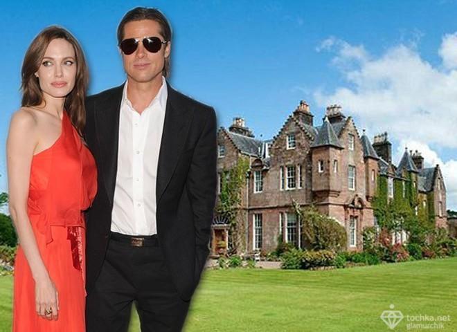 Анджелина Джоли и Брэд Питт арендовали замок