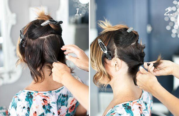 Изысканная прическа для коротких волос
