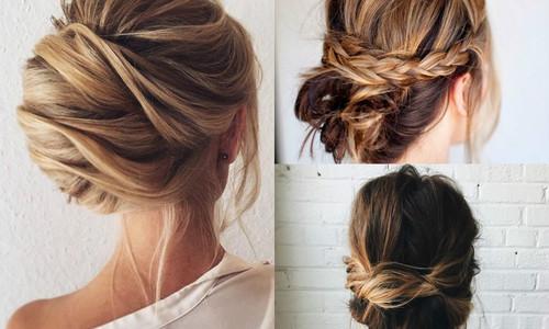 Быстрые прически для средней длины волос