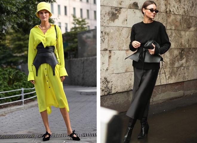 Как носить корсетный пояс в повседневности: модные приемы