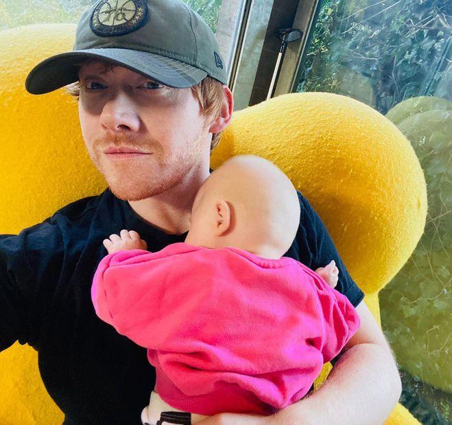 Руперт Гринт с дочерью Джи
