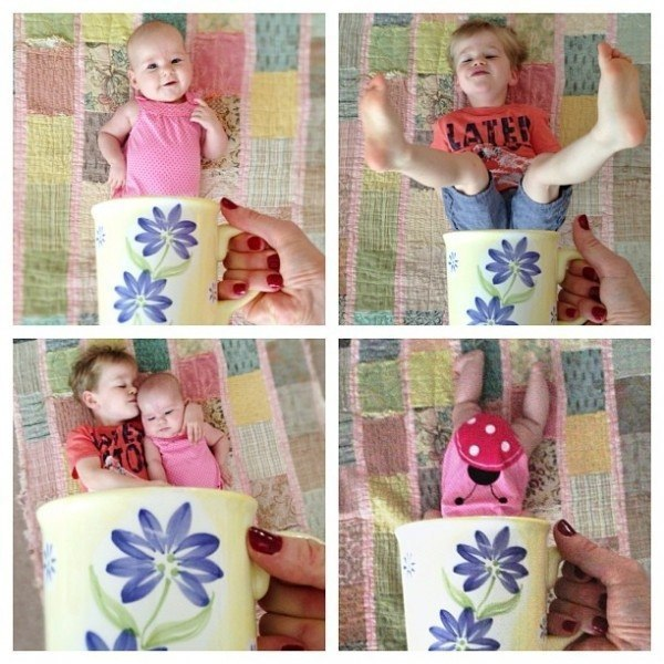 Идеи для фото ребенка до года