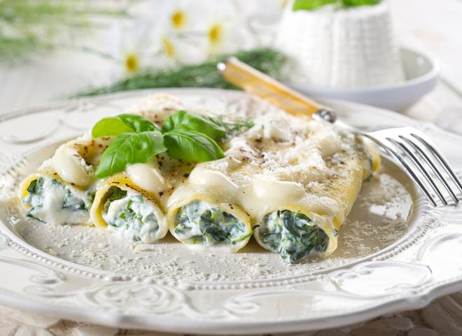 Каннеллони с творогом и зеленью: простой рецепт