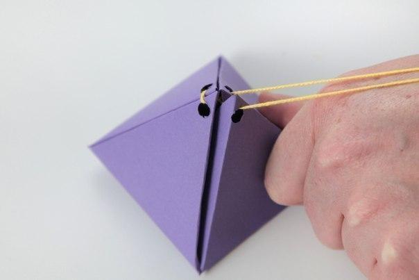 Подарочная коробка пирамидка своими руками 21