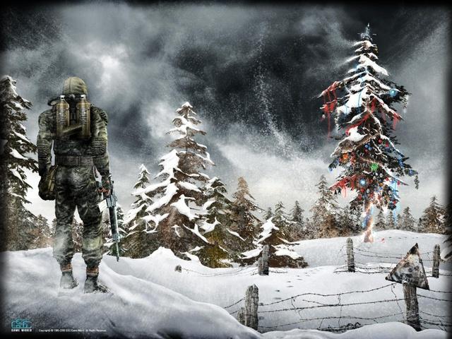 Открытка с Новым годом 2014 геймеру