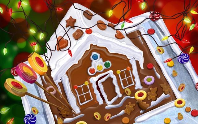 Вкусные открытки с Рождеством Христовым
