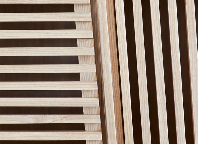 Вдохновленные баухаузом: тумба из деревянных трубок