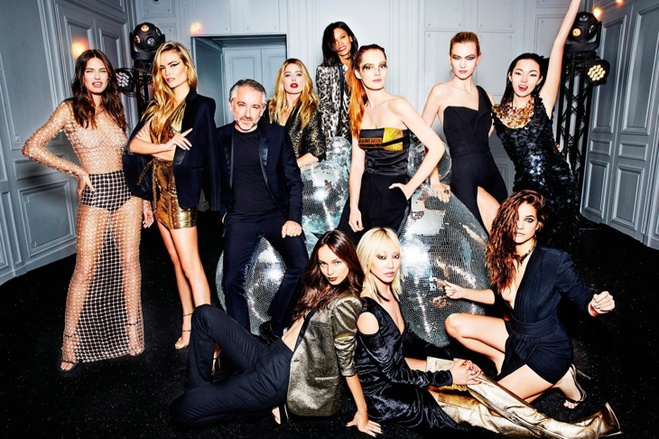 Карли Клосс, Даутцен Крус и другие модели в съемке для  L'Oreal Paris
