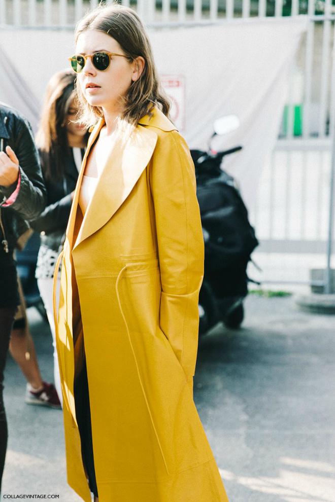 Street style образы с модным цветом весны 2016