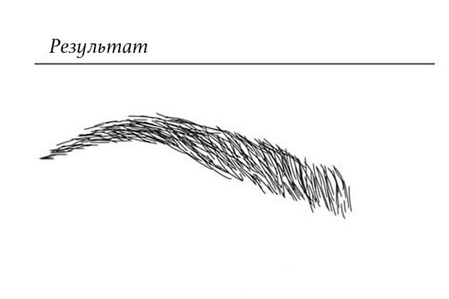 Форма бровей по методике Джимены Гасии