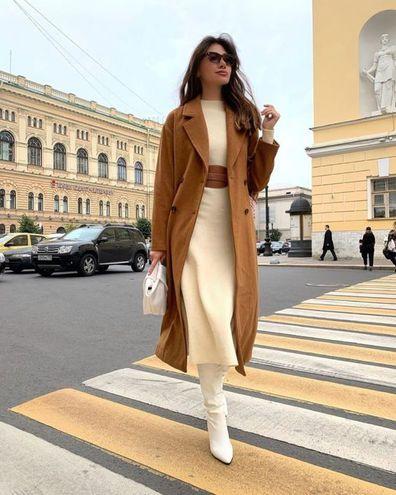 Трикотажное платье — тренд осень-зима 2020/21
