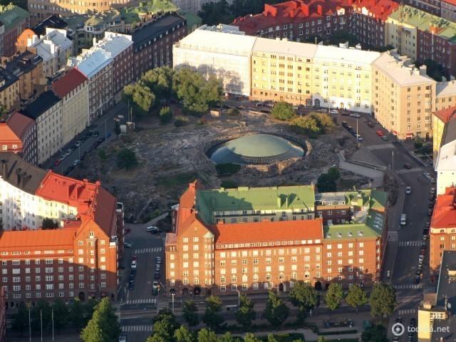 Церковь Темппелиаукио в Хельсинки (Финляндия)
