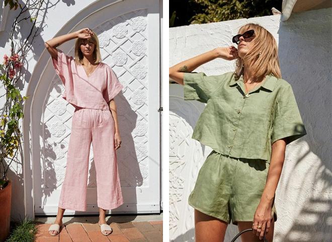 Модные льняные костюмы на лето