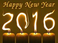 Огненные обои к Новому году 2016