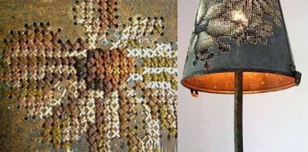 Креативная вышивка на металле от Северии Инсираускайте