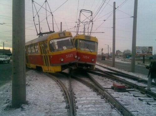 Водители маршруток - теперь в трамваях!