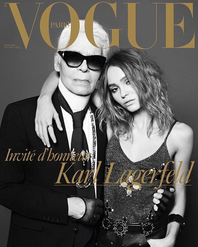 Карл Лагерфельд і Лілі-Роуз Депп прикрасили обкладинку Vogue Paris