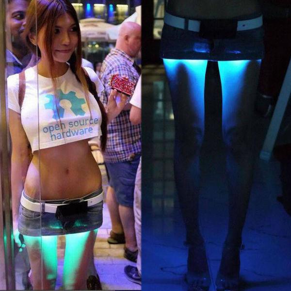 Мини юбка с подсветкой