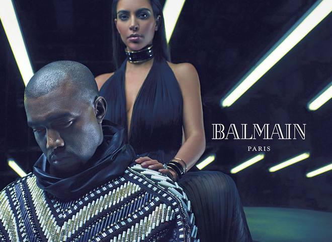 Ким Кардашьян и Канье Вест в рекламе Balmain