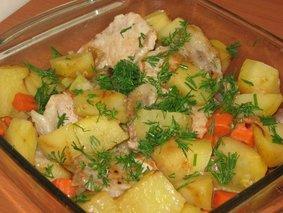 Свинина духовая с картошечкой