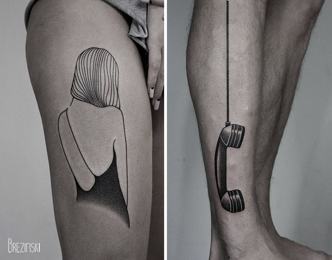 Подборка необычных тату