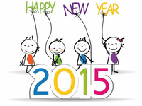 Миленькая открытка на Новый 2015 год