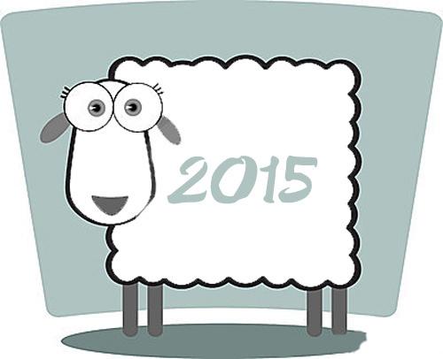 Прикольная открытка к Новому году овцы 2015