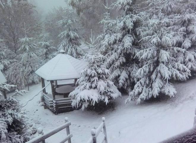 В Буковеле выпал первый снег