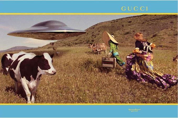 Галактична рекламна кампанія від Gucci