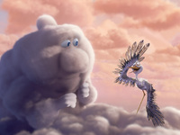 Аист и облако