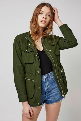 Модні куртки весни 2016: колір хакі