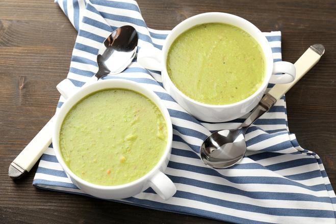 Суп с луком-пореем и геркулесом